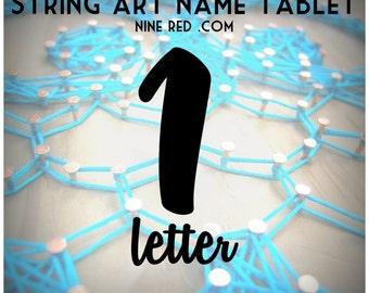 Modern String Art Wooden Tablet - 1 letter