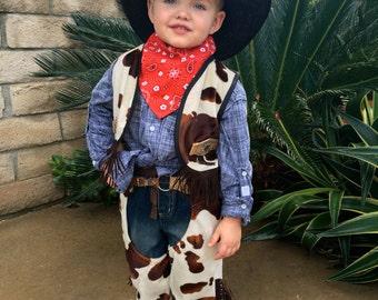 Cowboy Costume Set for Boys-Girls Custom Made Size 2,3,4,5,6,7,8,10.12Y