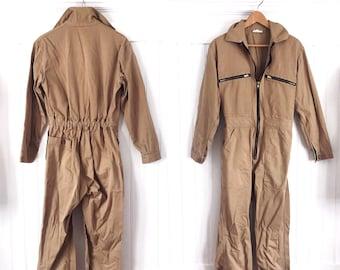 Vintage Tan flight suit coveralls Germany
