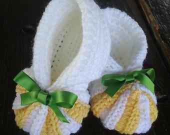 Baby booties, Crochet Baby Booties, Pumpkin Baby Booties, Baby Shower gift, Baby ankle booties, Baby girl shoes, Baby girl booties