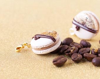 Cappuccino French Macaron Charm