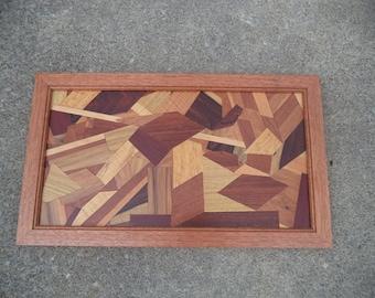 Mixed Exotic Wood Framed Wall Art