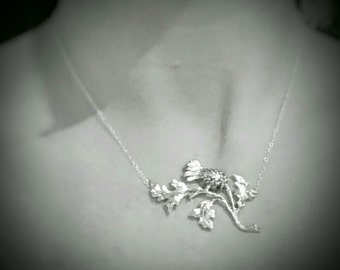 Scottish Thistle Necklace Sterling Silver Necklace Scottish Thistle Jewelry Gifts For Her