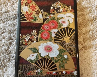 Unique hard plastic cover Japanese themed and style address book