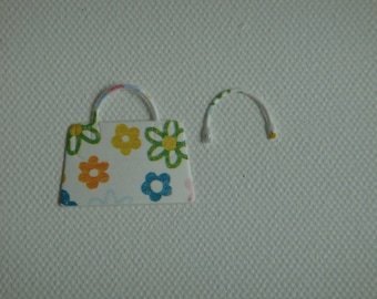 Cut paper flowers for scrapbooking and card pouch