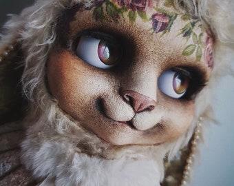 TeddyBlythe Beige Rabbit OOAK Custom Teddy Blythe