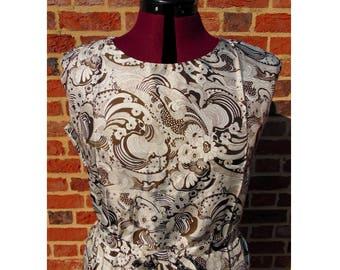 Vintage Shift Dress, 60s Dress, Deadstock, Psychedelic Dress, Mod Dress, Scooter Dress, Gogo Dress, Sixties Dress, 1960s, UK 16, UK 18