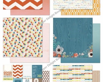 My Mind's Eye CUT & PASTE - PRESH - 12x12 Scrapbook Paper Pack