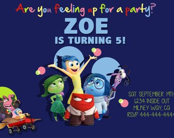 Inside Out Birthday invite!