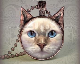 FPRD4 Flamepoint Ragdoll Cat pendant
