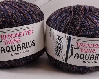 Lot 2 Trendsetter Yarns Aquarius Yarn Midnight Sunset FREE Shipping USA