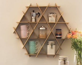 kitchen storage, Coffee Shelf, kitchen organization, Kitchen Rack, Coffee Mug Holder, Wall Shelves, Gold Kitchen Decor, Open Storage