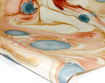 "Marbled Indian Cotton Rag Paper - MULTI COLOR - 22"" x 30"""