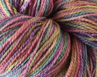 Hand dyed yarn - Merino - Bamboo - sock / fingering - 100g / 3.5oz -  RAINBOW ROSIE