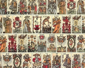 Old Tarot Cards Instant Download