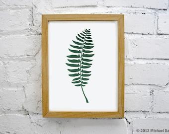 Green Fern Print - Botanical Forest Art Print