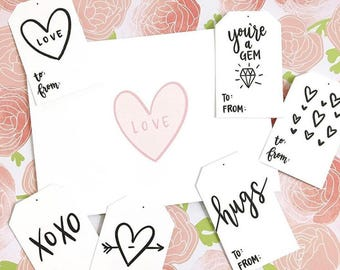 Valentine's Day Gift Tags - Printable Download