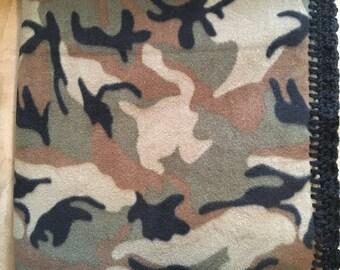 Fleece Baby Blanket- Camo