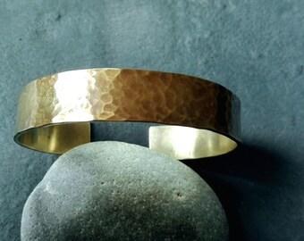 Brass cuff bracelet, bangle bracelet