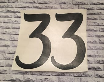 Number Decals / Glitter Numbers / Number Stickers / Adhesive stickers
