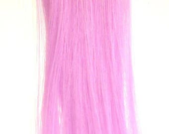Candy Stripers Power Purple Grape Luxe Lilac Pink Hair Extension Clip in Barrette Long Synthetic Straight - More Colors