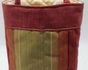 Wine Bottle Tote Bag - Orange Striped