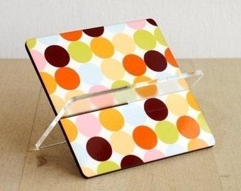 Business card holder, card holder, desk accessories ,desk organizer, office decor, home decor, gift ideas for women, men , pastel polka dots