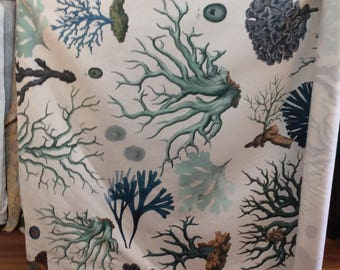 Blue Coral digital print by Design Legacy fabric new colors on new base