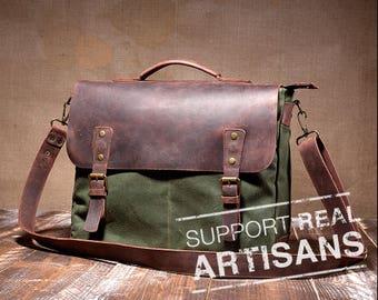 Mens Messenger Bag, Leather Messenger Bag, Canvas Messenger Bag