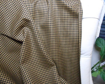Black/Camel Houndstooth Fabric, 14.75 Yard Piece, Sewing, Bedding, Home Decor