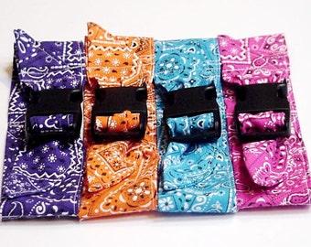 Dog Cooling Collar, Fabric Pet Neck Cooler Bandana Collar, Sz Small 10 - 14 inch Pink Blue Purple Orange Bandana Print Eco Reusable iycbrand