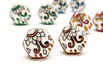 Patchwork earrings, Vietriese ceramic earrings, mattonelline, lobe earrings, craftwork, Alice Art, unique pieces, earrings