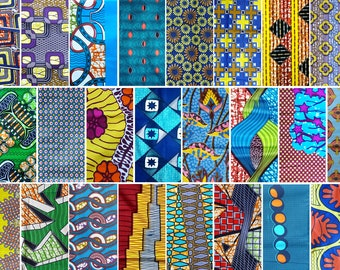 Lot 10 samples to choose African wax fabric, various patterns, 20x25cm