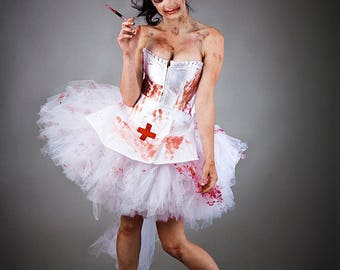 Size small Bloody Nurse Costume Burlesque Ready to Ship