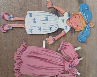 Vintage Original Little Doll, Paper Doll with One (1) Outfit