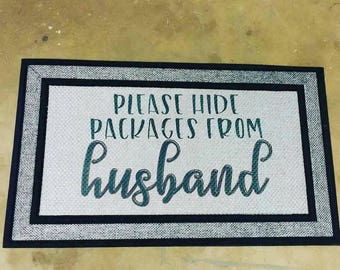 Please Hide Packages From Husband Welcome Mat