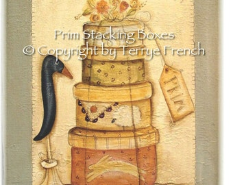 Prim Stacking Boxes - by Terrye French, E-Pattern