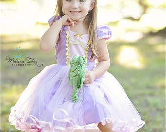 RAPUNZEL costume dress  TUTU dress for toddlers and girls fun for special occasion or birthday party costume