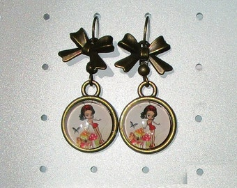 delicious little lady Ladybug and bow vintage