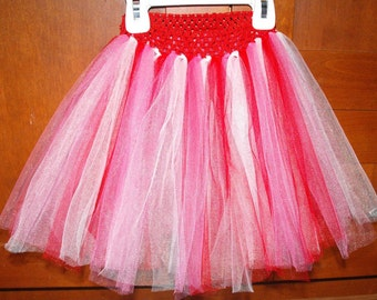 Valentine's Day Themed Red, Pink, and White Princess Tutu