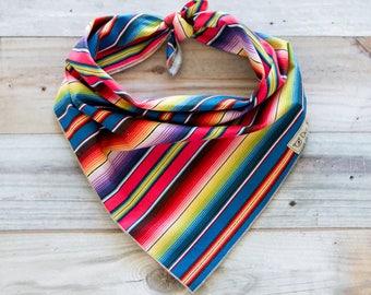 Multi Color Fiesta Dog Bandana, Fiesta Bandana, Serape Bandana, Cinco de Mayo Bandana, Tie On Bandana