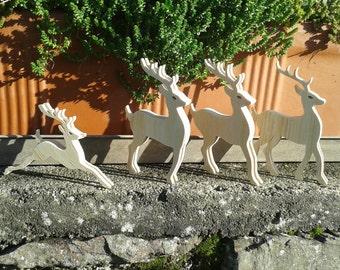 4 reins Christmas Decor