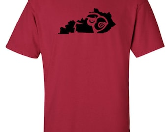 University of Louisville Cardinals - Kentucky Outline - Adult Unisex Tshirt