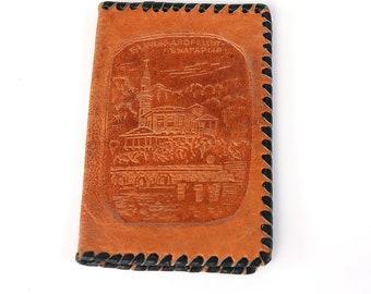 Tooled Leather Vintage Men's Wallet, Brown Leather Money Purse, Mans Fold Wallet, Change Purse, Vintage Leather Tooled Wallet, Old Purse