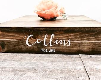 "16.5""x16.5"" Rustic Cake Stand - Custom Wedding Cake Stand - Rustic Wedding Decor - Wooden Box"