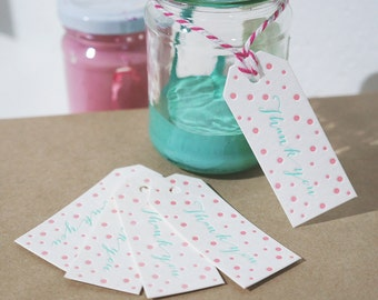 Set of 5 - Mini 'Thank you' Swing Tags