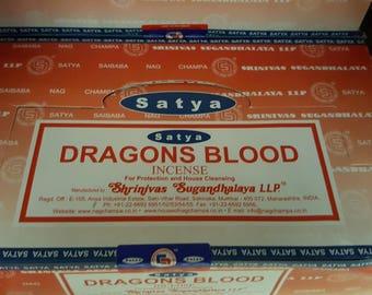 Satya Dragons Blood incense made in India box of 12  15gram packs