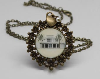 Hawaii Temple necklace, locket, pendant or key chain. FREE SHIPPING!!!