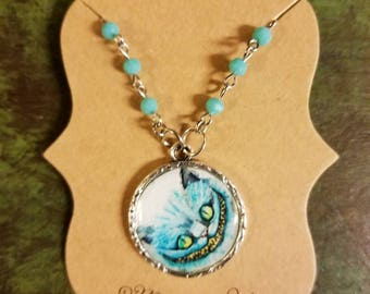 Cheshire Cat Alice in Wonderland Inspired Necklace