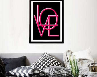 Printable art Digital Prints LOVE modern wall art Home decor printable art, printable prints
